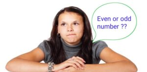 Even number or odd number in hindi